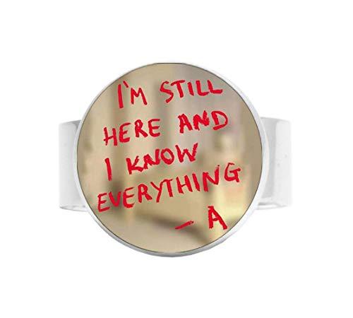Pretty little liars logo Copper Chain Women Choker Statement Adjustable Ring