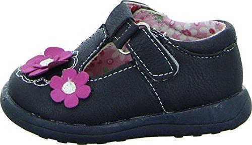 Tortuga GS115-034 Kleinkinder Mädchen Halbschuhe Blau Pinke Blumen Klettverschluss