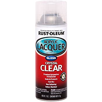 Rust-Oleum Automotive 253366 11-Ounce Acrylic Lacquer Spray, Clear Gloss
