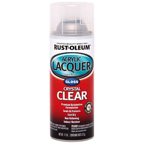 Rust-Oleum Automotive 253366 11-Ounce Acrylic Lacquer Spray, Clear Gloss
