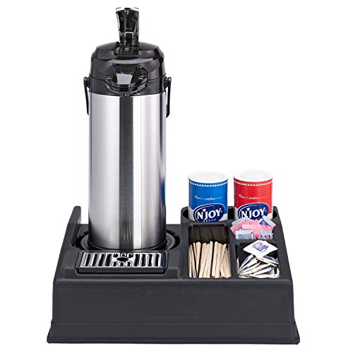 Service Ideas APR15BL Airpot Stand and Condiment Station, Holds 1 Airpot-5 Condiments, Black Plastic by Service Ideas (Image #2)