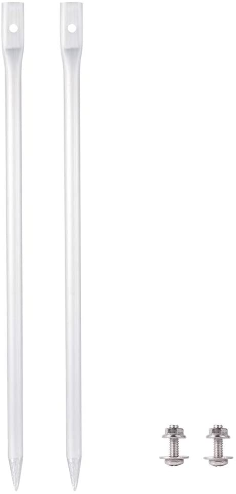 "Kichwit 14"" Long Metal Yard Stakes, Aluminum Alloy, for Lightweight Yard Signs Only"