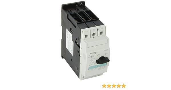 65kA UL Short Circuit Breaking Capacity at 480VAC 28-40 FLA Adjustment Range Screw Connection 520A Instantaneous Short Circuit Release Siemens 3RV1031-4FA10 Motor Starter Protector 3RV103 Frame Size