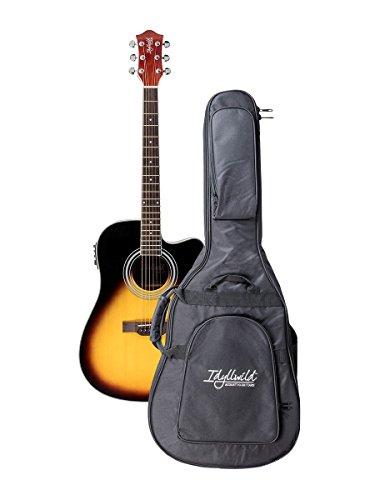 Guitar Vintage Electric Bag - Monoprice 6 String Idyllwild Foothill Acoustic Electric Guitar with Tuner, Pickup, and Gig Bag, Vintage Sunburst (610063),