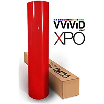VViViD Red Gloss Car Wrap Vinyl Roll with Air Release Adhesive 3mil (1.5ft x 5ft)