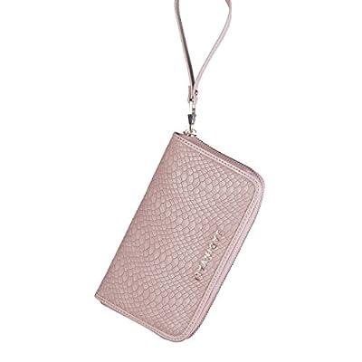 JADINVALI Women's Wallet Zip Around Wallet Wristlet Clutch Wallet Long Slim Wallet Card Holder Clutch Bifold Wallet