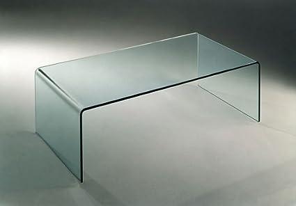 Mod. Ponte - tavolino basso in vetro curvato: Amazon.it: Casa e cucina