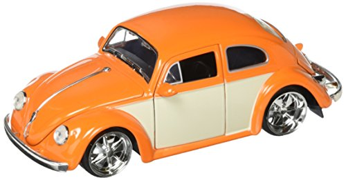 Kustom Metal - JADA 1:24 W/B Metals Bigtime Kustoms 1959 Volkswagen Beetle 2-Tone Orange Die Cast Car