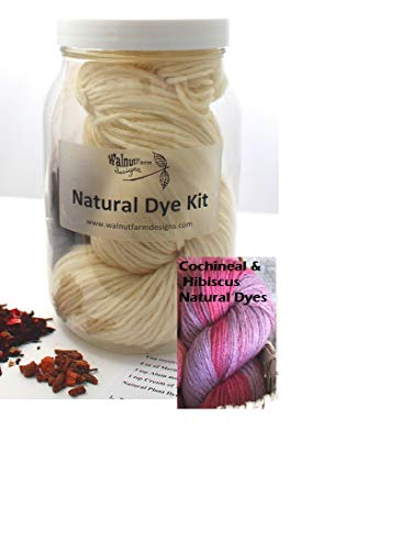 (Purple & Pink Natural Dye Kit for Naturally Plant Dyed Yarn Natural Plant Dyeing Yarn for Natural Plant Dyes Knitting Crochet Weaving)