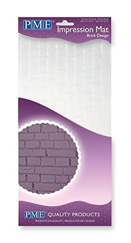 PME IM188 Brick Design Impression Mat, One Size, Transparent (Brick Press Fondant)