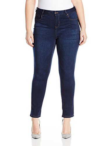 Celebrity Pink Jeans Women's Plus Size Celebrity Pink Soft Mid Rise Skinny Jean, Queen Super Dark, 14W