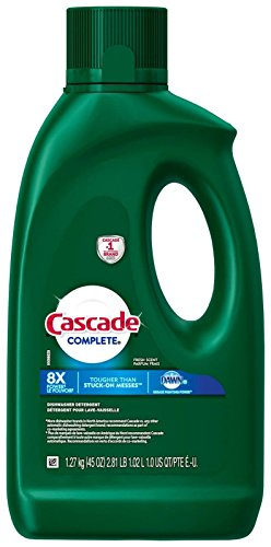 Cascade Complete Gel Dishwasher Detergent, Fresh Scent, 45 Ounces