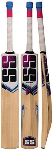 SS T20 Storm Kashmir Willow Cricket Bat with Tennis Cricket Ball and Bat Face Tape (Bat Cover Included) : 2019