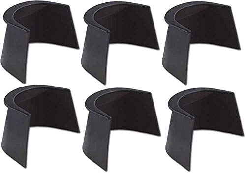 (TGA Sports 3-Inch/4-Inch Rubber Pocket Liner for Pool Table (Set of 6))