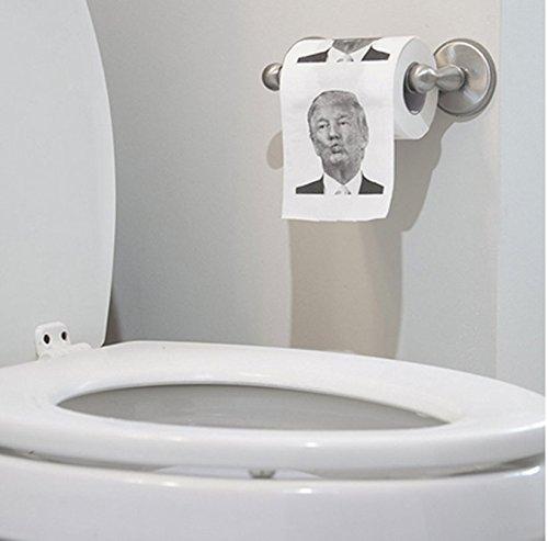 Yiteng トイレットペーパー トイレ用品 ドナルド?トランプ アメリカ 大統領 ジョークグッズ おもしろ (C)