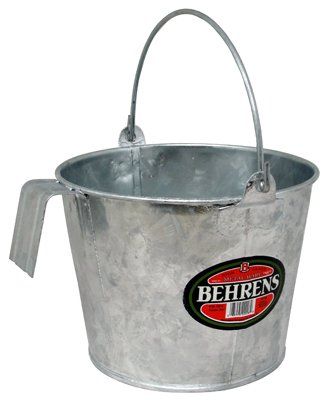 Behrens CP188 Hot Dipped Steel Calf Pail, 8 - Pail Double Quart
