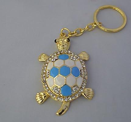 Llavero feng shui con diseño de tortuga con brillantes de ...
