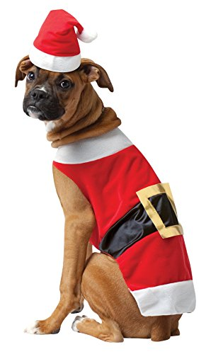 Rasta Imposta Santa Dog Outfit Pet Pet Costume - Large -