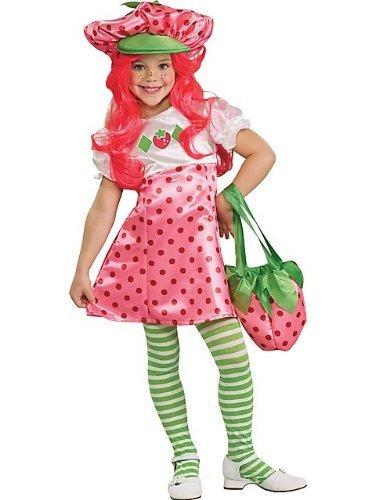 Deluxe Strawberry Shortcake Costume - Small (Strawberry Shortcake Hat)