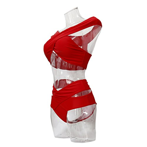 GWELL - Conjunto - para mujer Rojo