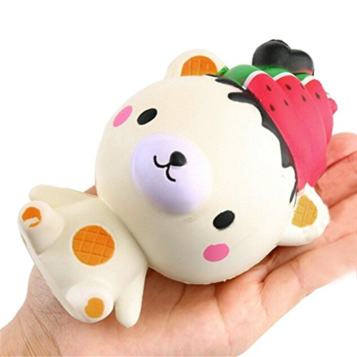 CosCosX 1 Pc Jumbo Squeeze Ice Cream Poop Bear Kawaii Cream Scented Cake Slow Rising Decompression Squeeze Squeezing Stress Reliever Toys Children Simulation Toys