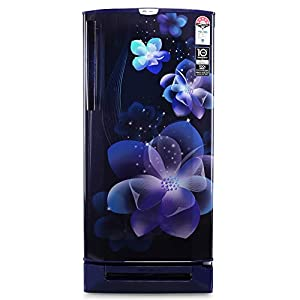 Godrej 190 L 5 Star Inverter Direct-Cool Single Door Refrigerator with Base Drawer (RD 1905 PTDI 53 JW BL, Jewel Blue)