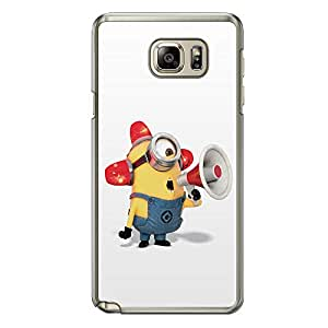 Loud Universe Samsung Galaxy Note 5 Files Minion 23 Printed Transparent Edge Case - Multi Color