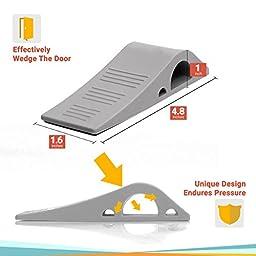 Wundermax Decorative Door Stopper With Free Bonus Holders, Door Stop Works on All Floor Surfaces, Premium Rubber Door Stops, The Original (3, gray)