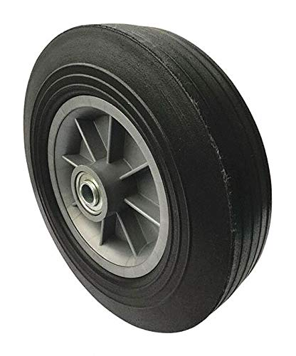10'' Light-Medium Duty Ribbed Tread Solid Rubber Wheel, 500 lb. Load Rating pack of 5 by GRAINGER APPROVED (Image #1)