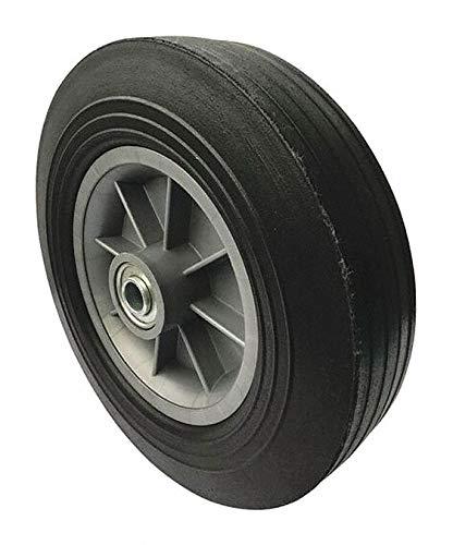 10'' Light-Medium Duty Ribbed Tread Solid Rubber Wheel, 500 lb. Load Rating pack of 5
