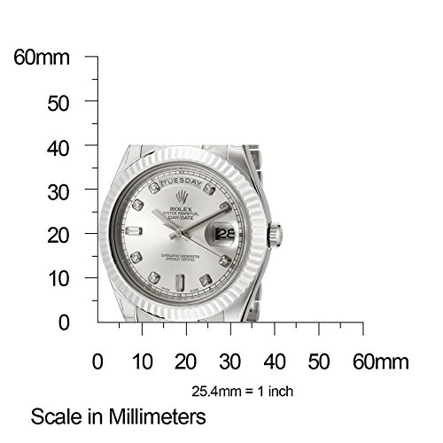 f6434c9acc8c Rolex Men s Day-Date II Automatic White Diamond Silver Dial President 18k  Solid White Gold
