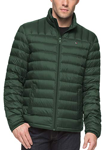 Tommy Hilfiger Men's Packable Down Jacket (Regular and Big & Tall Sizes), Botanical Green, XX-Large