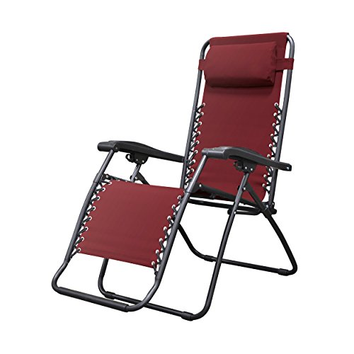 - Caravan Sports Infinity Zero Gravity Chair, Burgundy