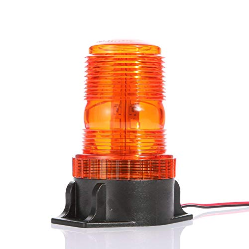 Gledto Automotive Emergency Strobe Lights - 30 LEDs 15W Waterproof Hazard Warning Flash Light for Car, Truck, Amber Yellow