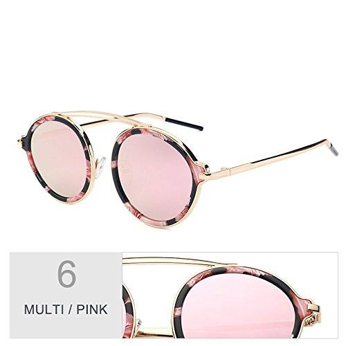Hermoso Multi De Gafas La Mujer Gafas De Parte Gafas Ronda Placa Para Brown Trasera Espejo Color Pink Leopard De De Moda La TIANLIANG04 La Sol De La 5zq4xAw