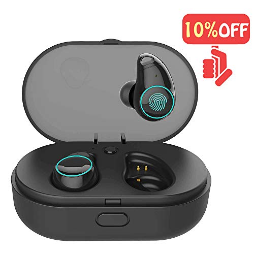 Arbily Wireless Bluetooth Earbuds,Bluetooth Earphones with Mic Cordless Earbuds with Charging Case,Waterproof Bluetooth Earphones for Running Noise Cancelling Sport Headphones for iPhone Android