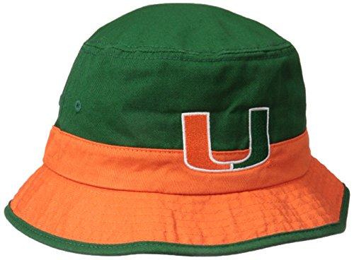 Miami Adult Hat (NCAA Miami Hurricanes Adult Bucket Hat, Green, Small/Medium)