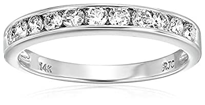1/2 CT Classic Diamond Wedding Band in 14K White Gold