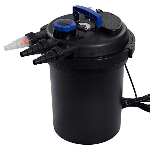 HPW 4000 GPH Pond Pressure Bio Filter With UVC Ultraviolet Purifier Sterilizer Light 10000L Koi Water Built-In UV Bulbs System Improve The Water Quality Suitable For Garden Pond Koi Pond by HPW