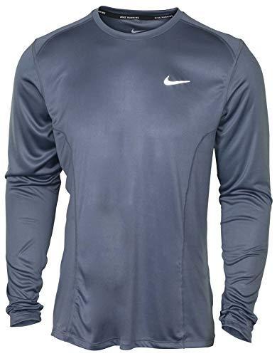 Nike Mens DF Miler Long Sleeve NFS Running Shirt Armory Blue 905290-498 Size Medium