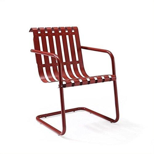 Crosley Gracie Retro Spring Chair, Red