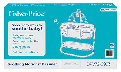 41dDwK0lMgL - Fisher-Price Soothing Motions Bassinet, Windmill