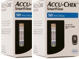 Accu-Chek Smartview Test Strips, Mail Order, 2 Boxes of 50