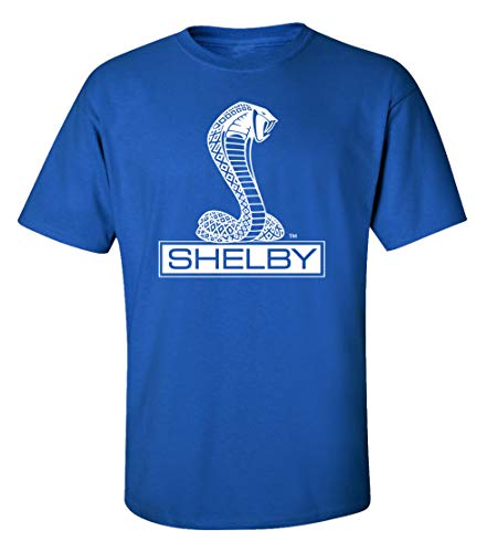 Ford Shelby Cobra Car T-Shirt Adult Men's Short Sleeve-Royal-Small