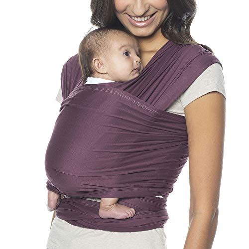 Ergobaby Aura Baby Wrap Carrier, Newborn to 25 lbs (0-36 Months), Wine