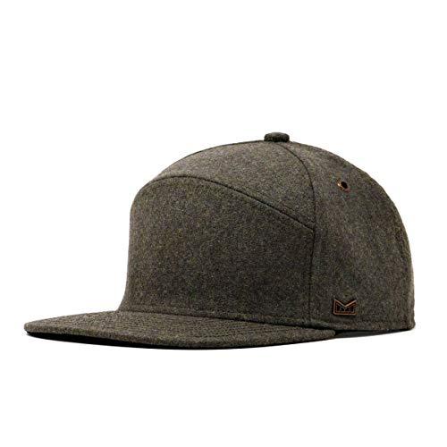 Wool Snapback Hat One Size Dark Olive ()