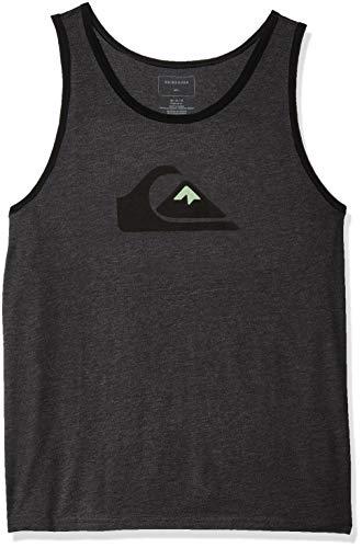 - Quiksilver Men's MW Logo Tank, Charcoal Heather S