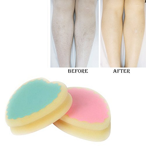 Hair Remover Pads - Dirty Hair Cream - Magic Hair Remover - Hair Removal Sponge - Magic Painless Hair Removal Depilation Sponge Pad save way to remove hair leg arm hair remover effective A2