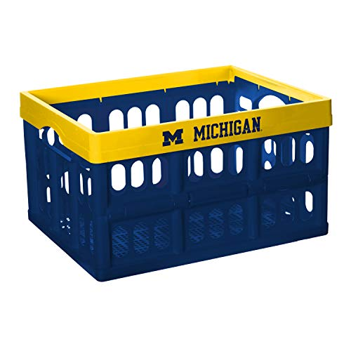 Michigan Wolverines Ncaa Collapsible - NCAA Fabrique Innovations Collapsible Crate, Michigan Wolverines