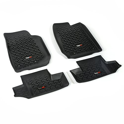 Rugged Ridge All-Terrain 12987.03 Black Front and Rear Floor Liner Kit For Select Jeep Wrangler Models